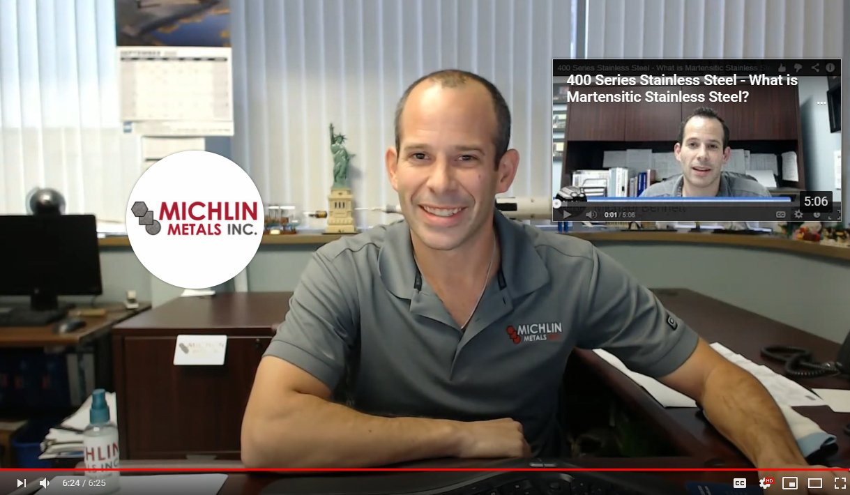 Michlin Metals Video 1 Basics of Stainless Steel